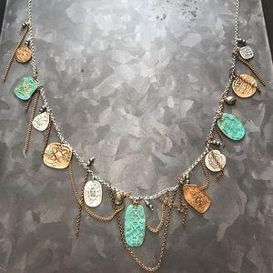 Silpada mixed metals statement necklace